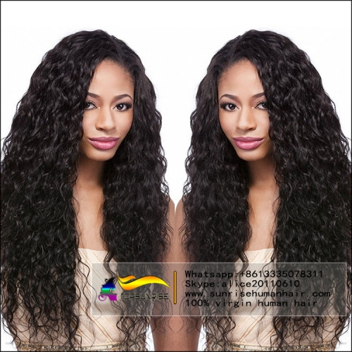 100% human hair  loose curly lace front wig high density,300% density glueless lace front wig ,medium cap ,natural color baby hair