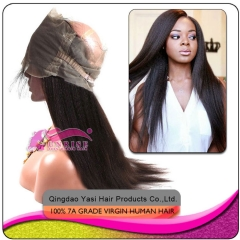 Factory price Pre Plucked  virgin brazilian 360 Lace Frontal Closure  Virgin human Hair light yaki 360 Frontal With Natural Hairline Baby Hair