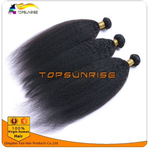 Wholesale  8A 100% virgin human hair weave double drawn virgin hair  ,unprocessed virgin malaysian Italian yaki hair weft