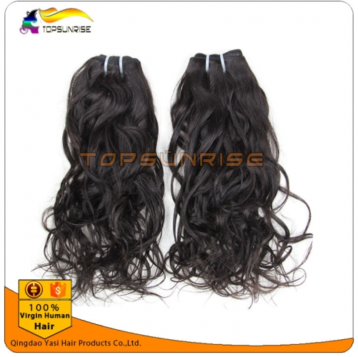 8A unprocessed virgin malaysian hair weave, 100% human curly hair weft,no shedding no tangle