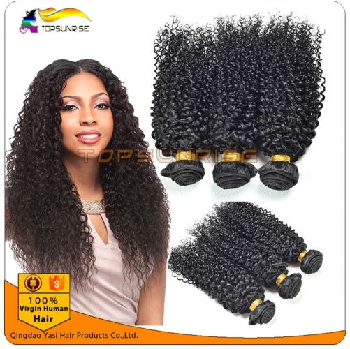 Factory direct sales 8A 100% virgin human kinky curly hair weaving, double drawn virgin malaysian hair ,virgin brazilian kinky curly hair weft