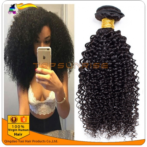 Brazilian Virgin Hair Weaves kinky curly Unprocessed Brazilian Human Hair Weave Grade 8A