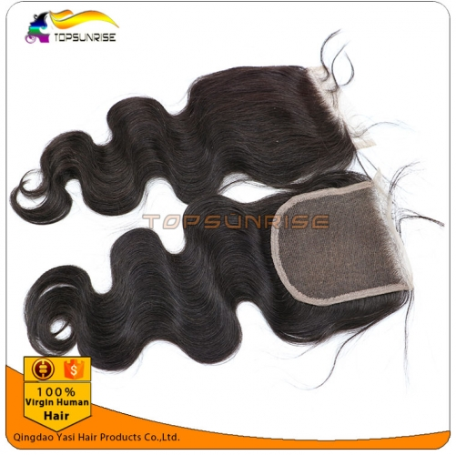 "wholesale 8A Grade virign peruvian hair body wave Lace Closure Bleached Knots 4x4"",5x5""  Virgin Hair top Closure Free/Middle/3 Part Lace Closure"