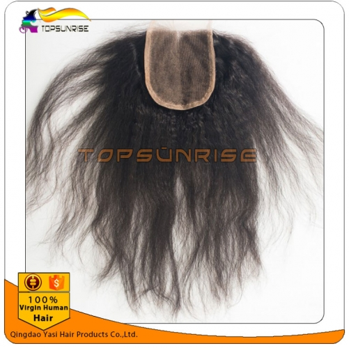 "wholesale 8A Grade virign peruvian hair kinky straight Lace Closure Bleached Knots 4x4"",5x5""  Virgin Hair top Closure Free/Middle/3 Part Lace Closure"