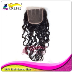 "wholesale 8A Grade virign brazilian hair curly Lace Closure Bleached Knots 4x4"",5x5""  Virgin Hair top Closure  free/middle/3 Part Lace Closure"