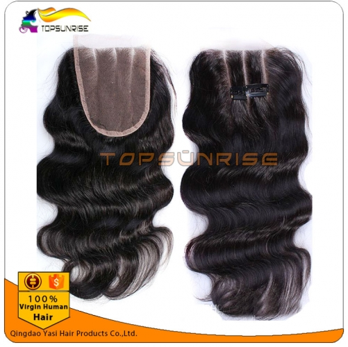 "wholesale 8A Grade virign malaysian hair body wave Lace Closure Bleached Knots 4x4"",5x5""  Virgin Hair top Closure Free/Middle/3 Part Lace Closure"