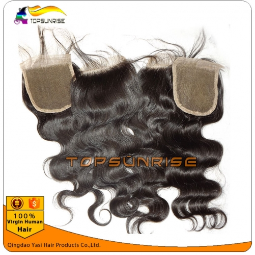 "8A Grade virign malaysian hair  body wave Lace Closure Bleached Knots 4x4"",5x5""  Virgin Hair top Closure Free/Middle/3 Part Lace Closure"