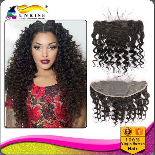 "wholesale 8A virign Brazilian human hair free Part Lace frontal Bleached Knots 13x2"",13x,4"",13x6"", curly virgin hair Lace frontal with baby hair"