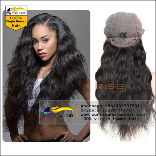 DHL/UPS FREE SHIPPING 100% Human hair 300% density loose wave lace front wig glueless,high density lace front human hair wig with baby hair