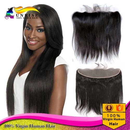 "wholesale 8A virign brazilian hair silkstraightLace frontal Bleached Knots 13x2"",13x,4"",13x6"",  Free/Middle/3 Part Lace frontal closure with baby hair"