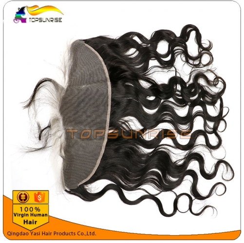 "wholesale 8A virign peruvian hair body wave Lace frontal Bleached Knots 13x2"",13x,4"",13x6"",  Free/Middle/three Part Lace frontal with baby hair"