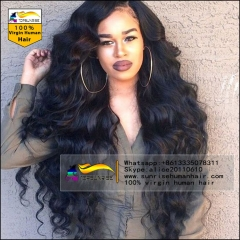 UPS/DHL FREE SHIPPING Human hair  lace front wig glueless,high density body wave lace front  wig with baby hair