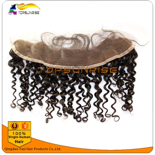 "wholesale 8A virign brazilian human hair free Part Lace frontal Bleached Knots 13x2"",13x,4"",13x6"", curly free part Lace frontal bleached knots"