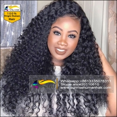 Wholesale UPS/DHL free shipping100% Human hair curly hight density lace front wig glueless, lace front human hair wig with baby hair