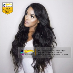 Wholesale Human hair lace wig, Free shipping body wave lace front wig glueless,high density lace front wig with baby hair