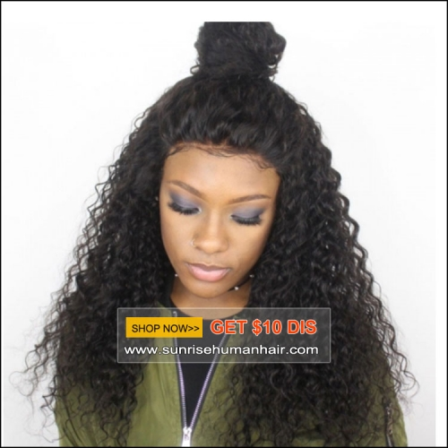 100% Human hair curly lace wig, FREE SHIPPING 300% density glueless  lace wig loose wave , high density lace front human hair wig with baby hair
