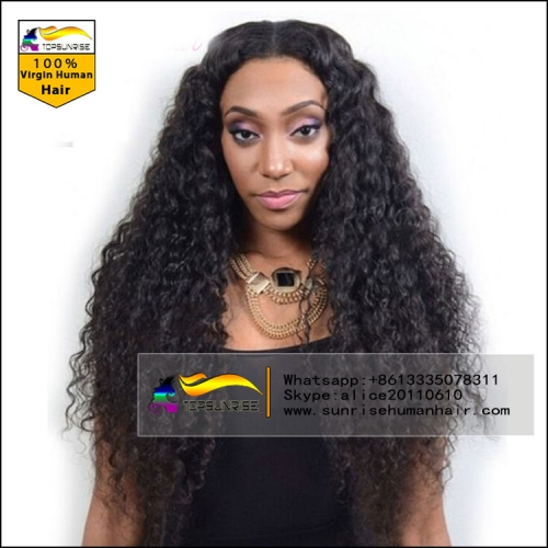 UPS FREE SHIPPING Human hair 300% density loose curly malaysian hair lace wig , high density lace front human hair wig with baby hair