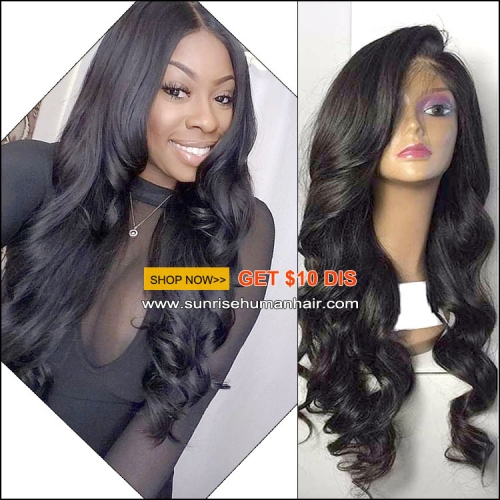 Sunrisehumanhair.com lace wig, virgin hair 300% density big curly malaysian hair lace wig , high density lace front human hair wig with baby hair