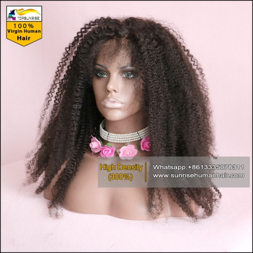 FREE delivery lace front wig high density, 300% density afro kinky curly lace wig for black women ,lace wig with baby hair