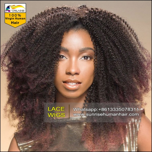 UPS FREE delivery lace front  high density wig, 300% density afro kinky curly wig front for black women ,lace wig with baby hair