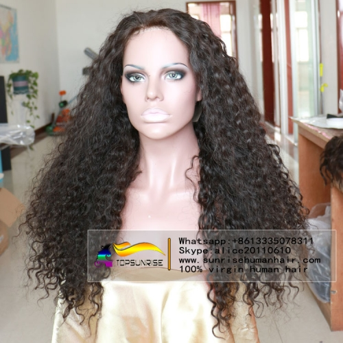 Big Discount 200% density silk base full lace human  hair wig glueless, 4x4 silk base full lace wig curly small/medium/large cap,ready to ship!