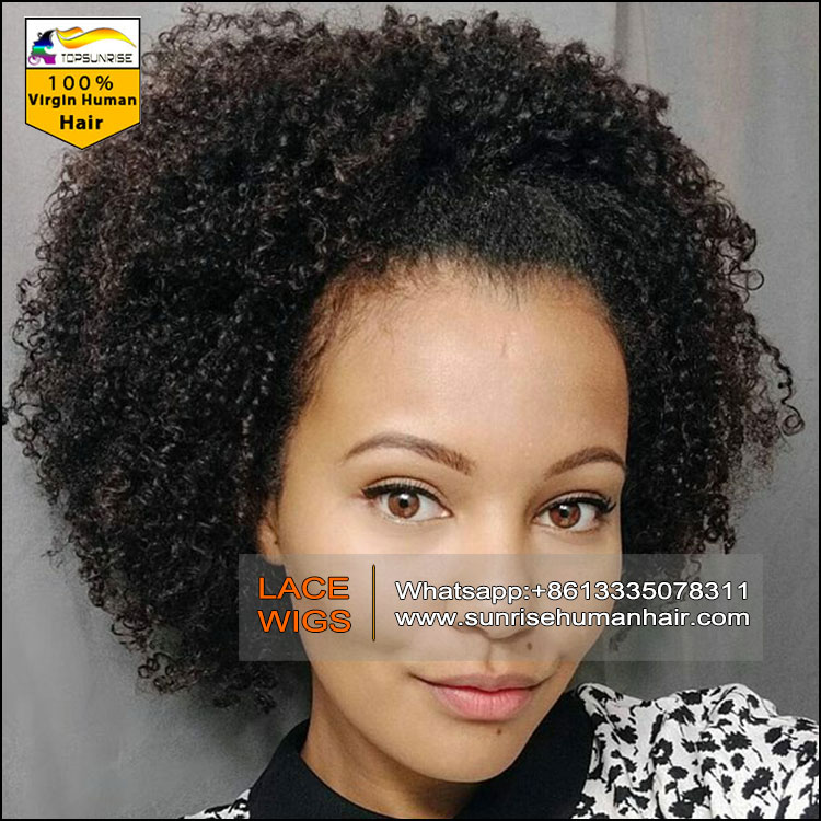 0317393bf81 China full Lace Wig supplier,100% human hair free shipping full wig ,afro  kinky curly full lace brazilian hair wig hidden knots