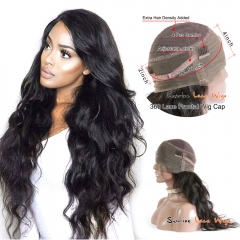 Sunriselacewigs 360 Lace Frontal Wig 180% Density Lace Front Human Hair Wigs For Black Women Brazilian Body Wave 360 Lace frontal human hair wigs