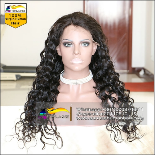 50% Discount 200% density full lace human hair wig with baby hair,glueless 4x4 silk base full lace wig small/medium/large cap,ready to ship!