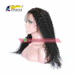 100% Human hair 300% density kinky curly lace front wig glueless,high density lace front human hair wig with baby hair