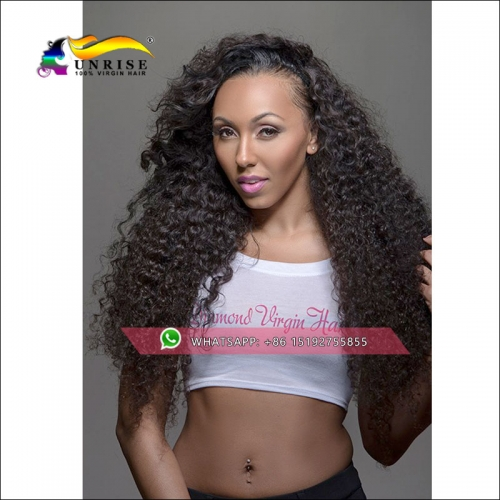 Hot sale Free shipping high density afro kinky curly front lace wig side part, glueless lace front human hair wig with baby hair