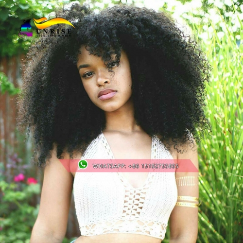 Fashion style lace wig,100% Human hair afro kinky curly 300% density glueless  lace wig , high density lace front human hair wig with baby hair
