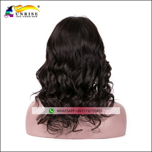 Factory direct sale wavy human hair wig with virgin human hair full lace wig wavy hair