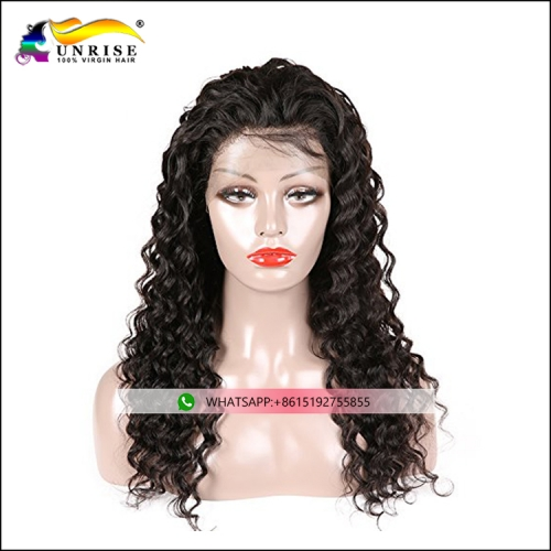 High quality front lace Chinese hair wig with invisible hairline pre plucked hair wig for women