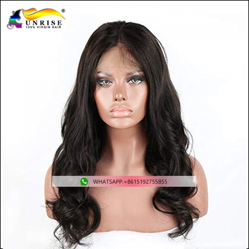 High quality virgin hair peruca pre plucked front lace wig for lady
