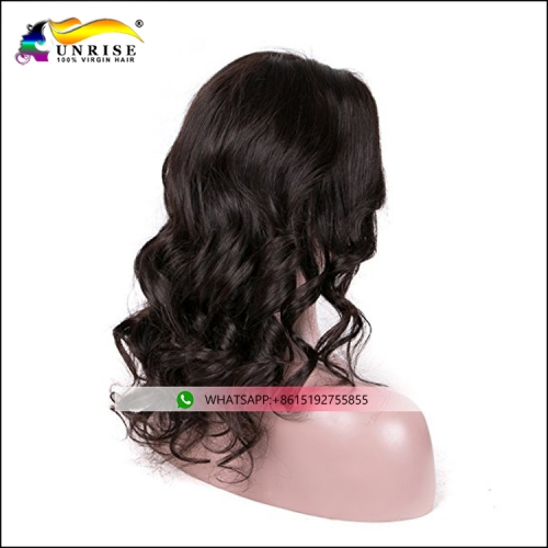 Best choice front lace wavy hair wig for black women Chinese hair wavy peruca with natural hairline
