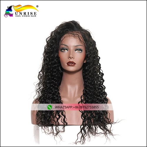 Wholesale price remy curly hair lace wig with baby hair lace front wig Filipino hair for women
