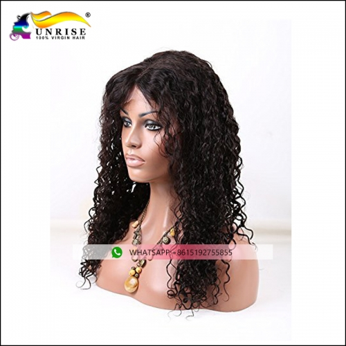 Best choice human Indian hair full lace curly wig with baby hair virgin human Indian hair