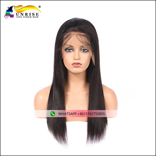 Hot selling straight hair peruca with natural hairline lace front Indian hair wig for women