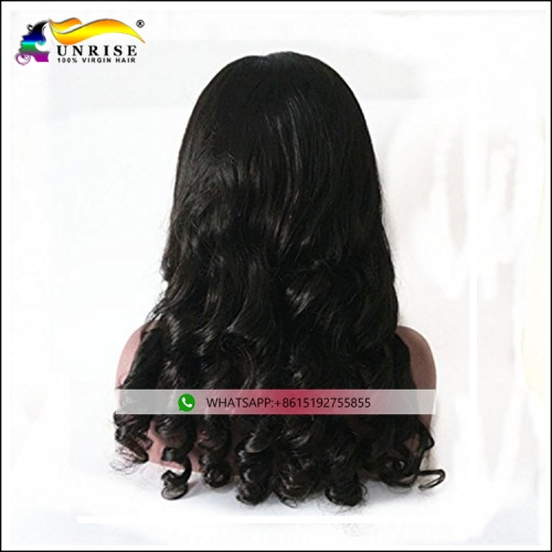 Factory direct sale full lace loose curly wig European human hair 100% human hair lace wig for women