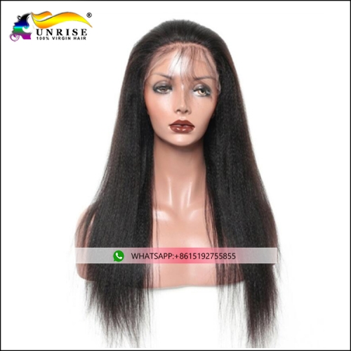 Top quality full lace yaki straight wig with natural hairline pre plucked yaki straight peruca for black women