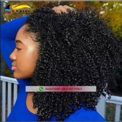 300% density kinky curly wig for girls natural hairline peruca with baby hair 100% human hair