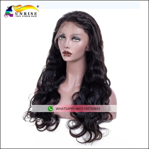 High quality Burmese full lace body wave wig with baby hair pre plucked Burmese peruca for women