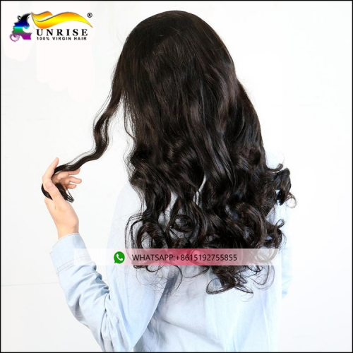 Top quality Peruvian full lace body wave wig with baby hair raw hair peruca for women