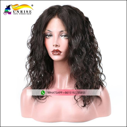 Wholesale price lace front loose curly wig for lady pre plucked loose curly peruca with baby hair