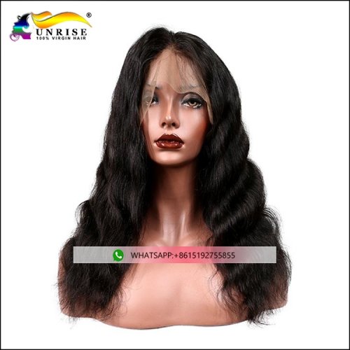 High quality body wave pre plucked full lace hair wig for women natural hairline Indian peruca 100% human hair