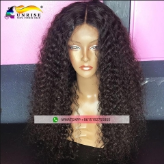 Fashion human hair peruca tight curly high density lace front Peruvian wig for women