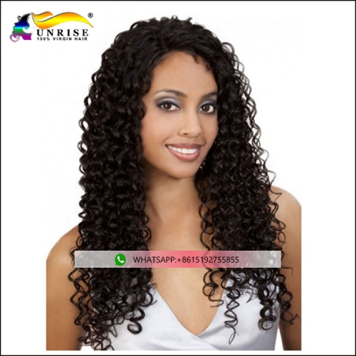 Hot sale curly natural hairline full lace Mongolian hair wig with baby hair Mongolian peruca raw human hair