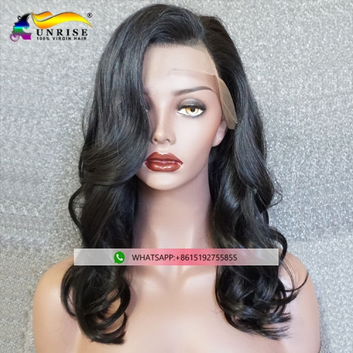 Hot sales Peruvian virgin hair peruca for women full lace wig raw human hair with baby hair