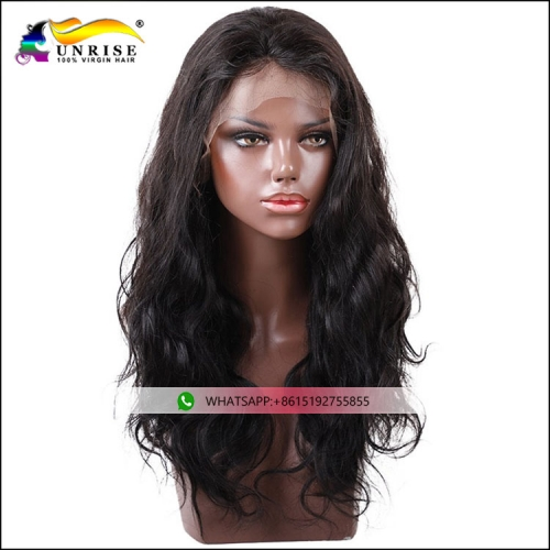 New fashion virgin hair Chinese peruca with baby hair natural hairline full lace body wave wig unprocessed Chinese hair