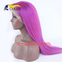 Full Lace Human Hair Wigs Purple Color Brazilian Remy Hair Full Lace Wigs With Baby Hair Pre Plucked